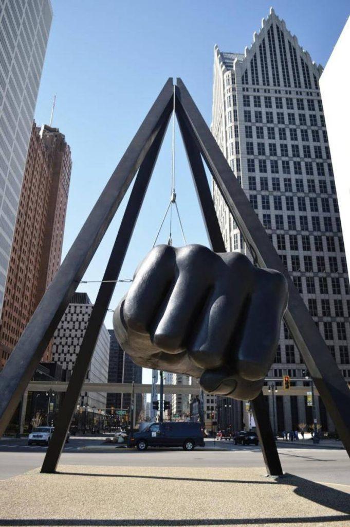 Joe Louis Fist Vertical Detroit Michigan Photography Prints | Etsy