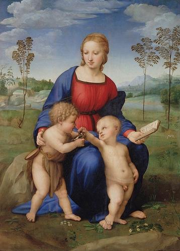Madonna con Cardellino, 1506, Galleria degli Uffizi